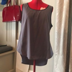 Kenneth Cole size XL leather trimmed tank top.